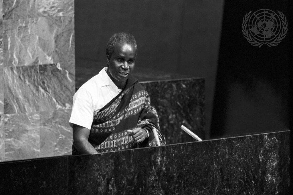 Hayati Kenneth Kaunda wakati akiwa Rais wa Zambia alifanya ziara rasmi Umoja wa Mataifa na kuhutubia Baraza Kuu tarehe 15 mwezi Novemba mwaka 1966.