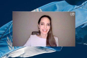 Angelina Jolie na reunião do Conselho de Segurança sobre violência sexual em conflitos.