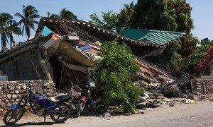 Разрушения в Геле, Гаити, в результате землетрясения магнитудой 7,2 балла, которое произошло 14 августа