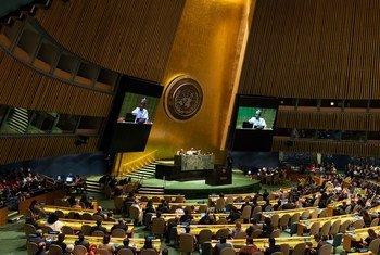 17 сентября Председатель новой 74-й сессии Генеральной Ассамблеи ООН Тиджани Мухаммад-Банде провел ее первое пленарное заседание