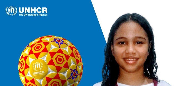 """Dentre os cinco designs escolhidos para estampar bolas de futebol pelo concurso """"Bola dos Sonhos"""", está a venezuelana Skarly de Jesus."""