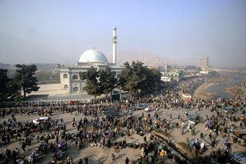 Une mosquée à Kaboul, la capitale de l'Afghanistan (photo d'archives).
