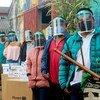开发安排向哥伦比亚考卡土著社区运送生物安保设备、口罩和食品包。