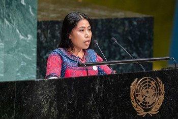 Yalitza Aparicio, embajadora de la UNESCO en la Asamblea General en la clausura del Año Internacional de las Lenguas Indígenas