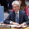 Mark Lowcock, chef de l'humanitaire des Nations Unies, devant le Conseil de sécurité (photo d'archives).