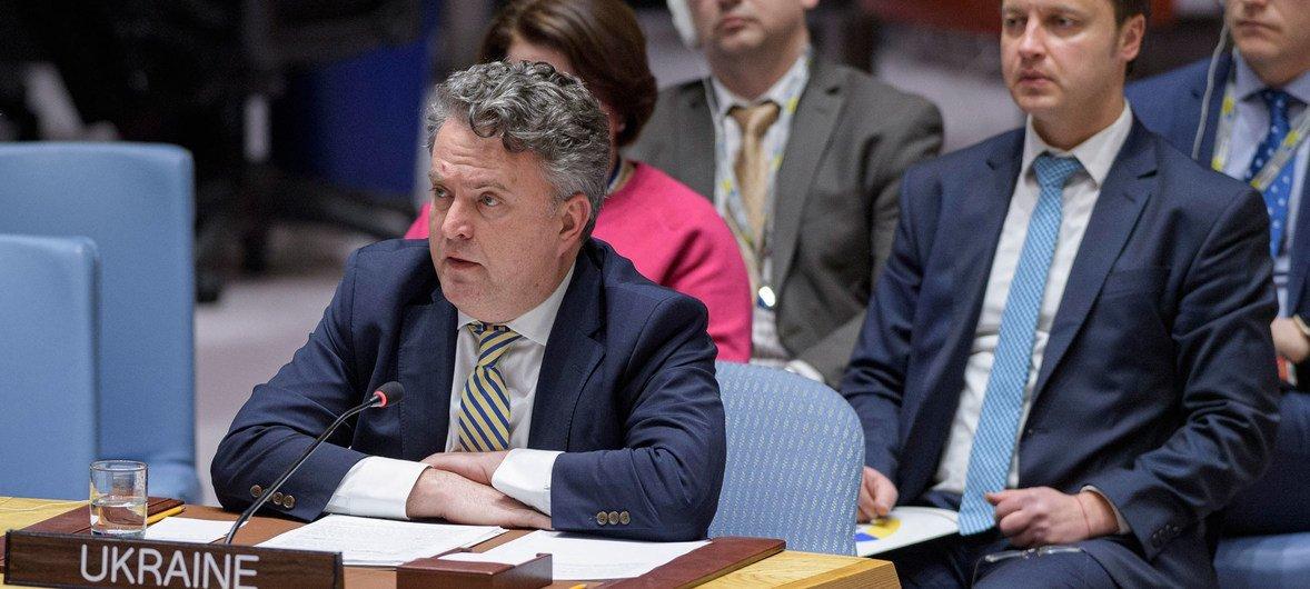 Сергей Кислица, заместитель министра иностранных дел Украины выступил на заседании Совета Безопасности, посвященном пятой годовщине Минских договоренностей.
