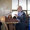غسان سلامة، المبعوث الخاص إلى ليبيا، في المؤتمر الصحفي حول اللجنة العسكرية المشتركة 5+5 في جنيف