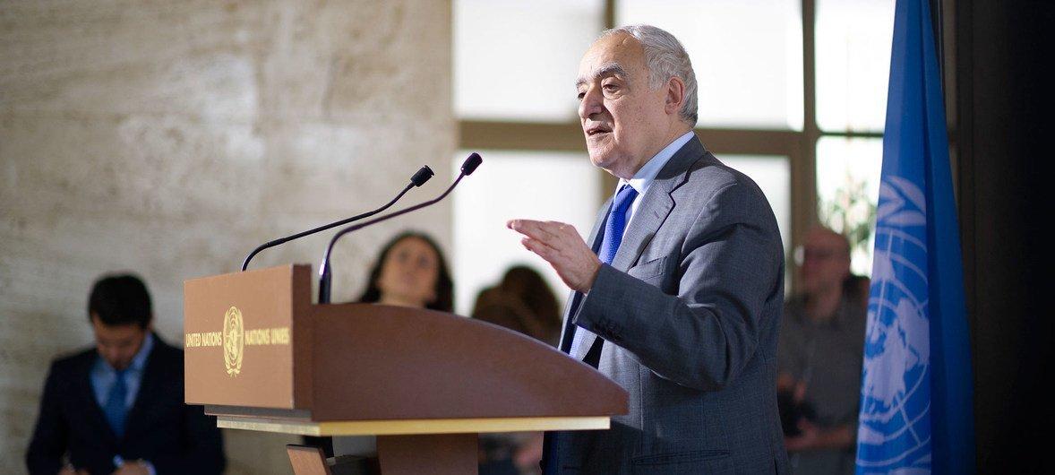 الصورة : غسان سلامة، الممثل الخاص للأمين العام للأمم المتحدة ورئيس بعثة الأمم المتحدة للدعم في ليبيا