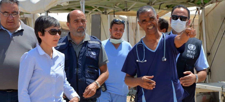 Команда ВОЗ в Сирии работает с упорством и надеждой, чтобы помочь сирийцам.