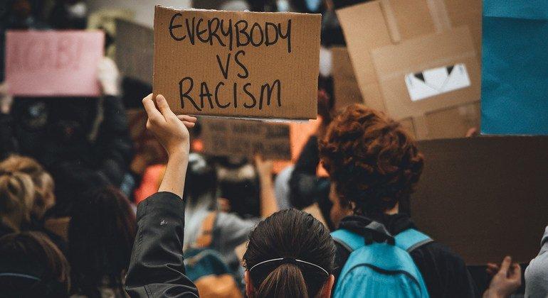 Protestors take part in a Black Lives Matter demonstration in the UK.