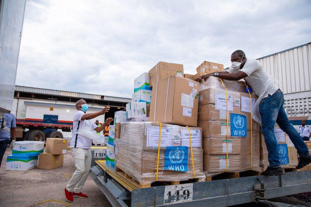 WHO ilifikisha msada wa vifaa kinga dhidi ya COVID-19 nchini Jamhuri ya Kidemokrasia ya Congo DRC mwezi Aprili 2020
