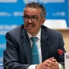 WHO Director-General Tedros Adhanom Ghebreyesus addresses the opening session of the 73rd World Health Assembly in Geneva.