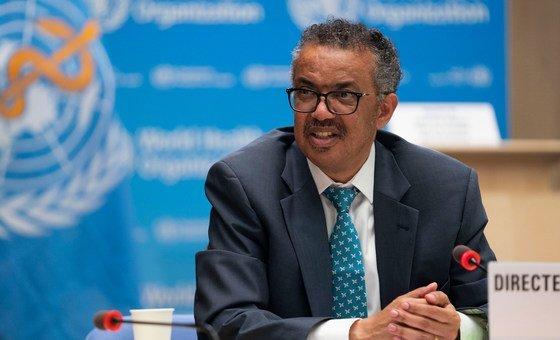 """TedrosGhebreyesus disse que a incapacidade do mundoemfornecervacinas aos países pobres é""""um fracasso global"""""""