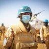 Des Casques bleus de la MINUSMA en patrouille à Niafounké au Mali.