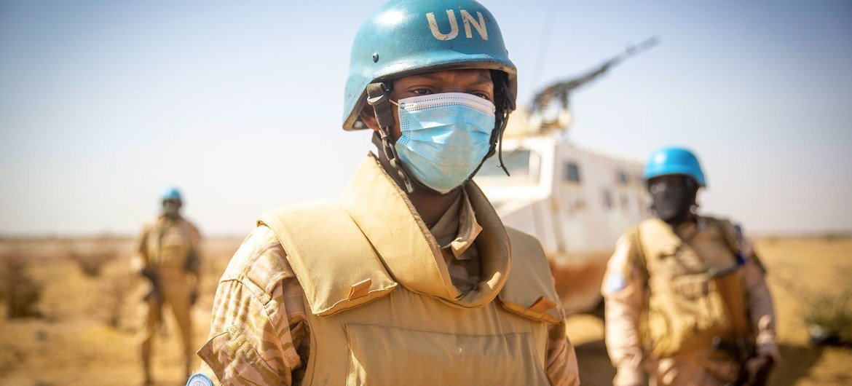 MINUSMA peacekeepers on patrol in Niafounké in Mali.