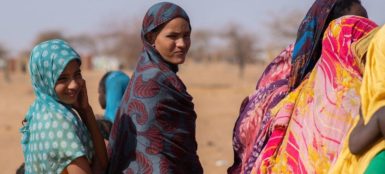 Mujeres refugiadas en el campamento de Goudoubo en Burkina Faso.