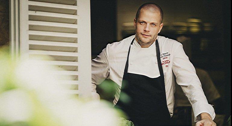 Le chef Florent Pietravalle, Etoile Verte du Guide Michelin.