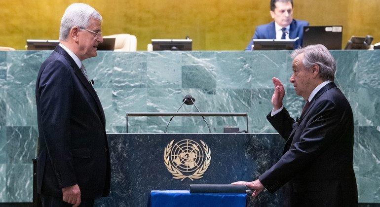 Антониу Гутерриш приведен к присяге в качестве Генерального секретаря ООН на второй срок
