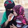 Des cliniques mobiles distribuent des compléments alimentaires aux enfants du Yémen.