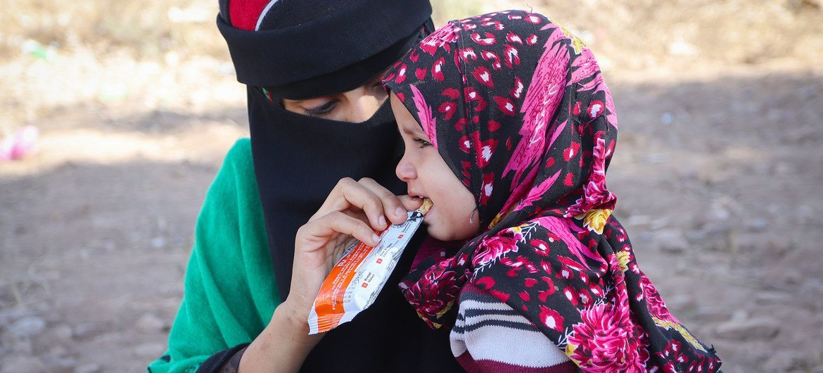 Mobile wellness  clinics are distributing nutritional supplements to children successful  Yemen.