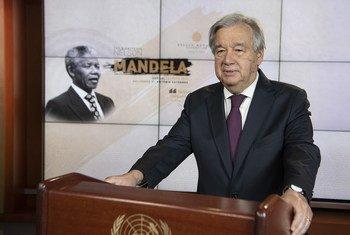 António Guterres nos estúdios da TV ONU
