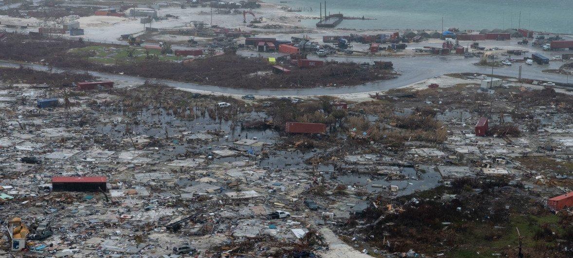 巴哈马大阿巴科岛上的马什港在9月份被5级飓风多里安摧毁。