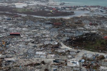 Marsh Harbor on Great Abaco Island, Bahamas, was devastated by the category 5 Hurricane Dorian in September.