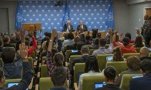 Em entrevista a jornalistas, Guterres destacou emergência climática, aumento da desigualdade, da intolerância e do ódio como alguns dos desafios atuais.