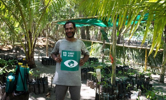 Local conservationist Alfred Masul is replanting mangrove trees in Papua New Guinea to build resilience against climate change.