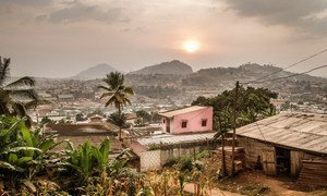 Melen, a slum area in the middle of Cameroon's capital, Yaoundé.