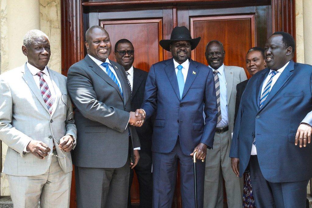 南苏丹总统萨尔瓦基尔和反对派领导人里克马查尔于2019年9月11日在朱巴会晤。这是他们第二次面对面的会面。