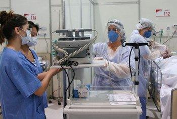 Trabajadoras de salud en Brasil.