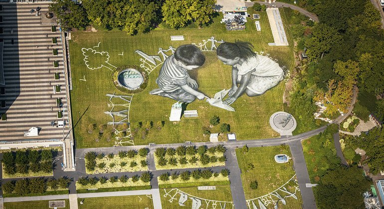 Giant eco-friendly artwork set to inspire world leaders during the UN General Assembly