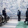 Scene at UN Headquarters during High-level Week of 73rd General Assembly.Delegates arrive at UN headquarters on the first day of the General Assembly's seventy-third general debate..25 September 2018.United Nations, New York
