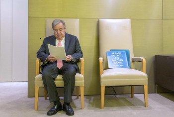 联合国秘书长古特雷斯在今年九月联大第74届会议期间。