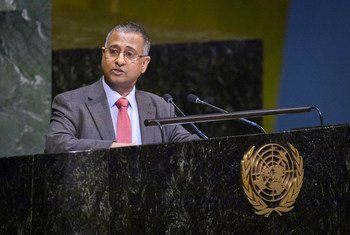 Ahmed Shaheed, Special Rapporteur on Freedom of Religion or Belief addresses the UN General Assembly (file)