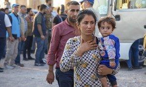 Беженцы из Сирии в лагере Бардараш в Ираке.