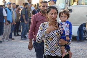 Wakimbizi kutoka Syria wakiwa kambi ya Bardarash nchini Iraq.
