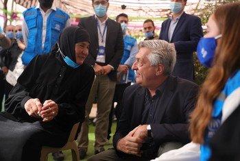 Kamishna Mkuu wa UNHCR Filippo Grandi alitembelea jiji la Talibiseh , Kaskazini mwa Homs, Syria