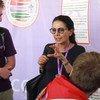 نجاة معلا مجيد، الممثلة الخاصة للأمين العام بشأن العنف ضد الأطفال تزور المخيم الكشفي العالمي