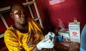 At her Wau hospital office in South Sudan, HIV health counselor Helen Pio runs the Prevention of Mother To Child Transmission programme.