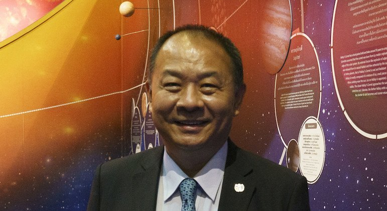 Keran Wang, Chief of Space Applications Section, ICT and Disaster Risk Reduction Division of ESCAP