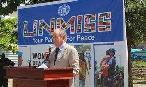 联合国秘书长特别代表兼南苏丹特派团团长希勒希勒在南苏丹朱巴。