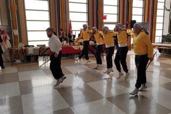 رقصة الدبكة في احتفال الأمم المتحدة باليوم الدولي للغة العربية، ديسمبر/كانون الأول 2019.