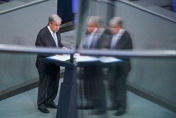 Secretário-geral disse ao Parlamento alemão,Bundestag, que a cooperação internacional apoia soluções globais