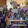 A school in Kaya, Burkina Faso, welcomes numerous children who have fled their homes due to violence.