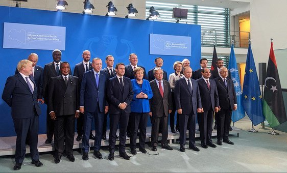World leaders gather at the Berlin Conference on Libya in the German capital.