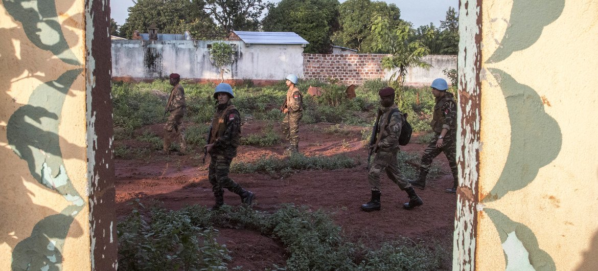 MINUSCA peacekeepers on patrol in Bangassou, in southern Central African Republic. (file photo)