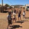 Eritrean children play in the Adi Harush refugee camp in Tigray, northern Ethiopia.