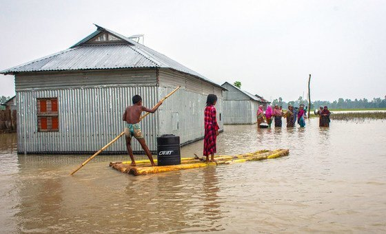 Before floods peaked in Bangladesh, familes were given storage drums to protect their valuables.